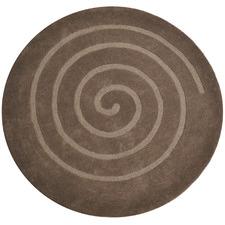 Chocolate Swirl Wool Round Rug