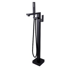 Free Standing Floor Mounted Top Spout with Handheld Tap