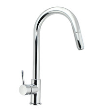 Rounded Euro Pull-Out Kitchen Sink Mixer Tap