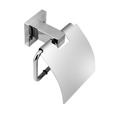 Chrome Gama Toilet Roll Holder with Cover