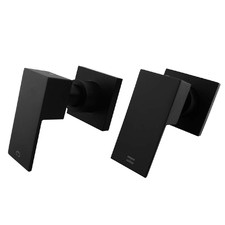 2 Piece Rectangular Ottimo Shower Wall Tap Set