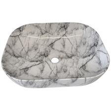 White Garrett Rectangular Ceramic Basin
