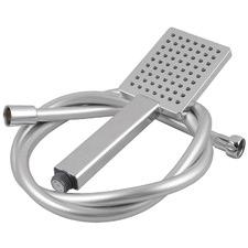 3 Piece Chrome Square Hand-Held Shower & Hose Set