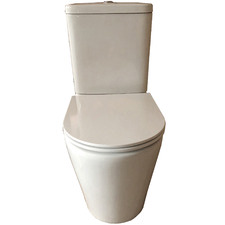 Rimless White Ceramic Back-To-Wall Toilet Suite