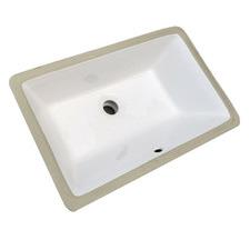 Glossy White Ceramic Undermount Basin