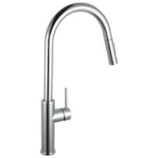 Chrome Swivel Pull-Out Kitchen Mixer Tap