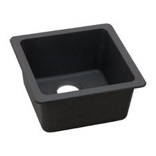 Black Square Granite Quartz Stone Kitchen Sink