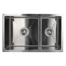 Silver Satin Stainless Steel 1.75 Kitchen Sink Bowl