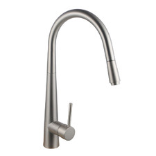 Brushed Nickel Swivel Pull-Out Kitchen Mixer Tap