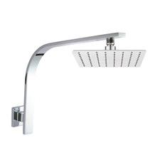 2 Piece Super-Slim Shower Head & Gooseneck Shower Arm Set