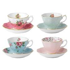 Royal Albert Vintage Tcup&Scr Set 4