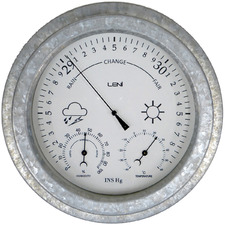 22cm Leni Galvanised Outdoor Barometer