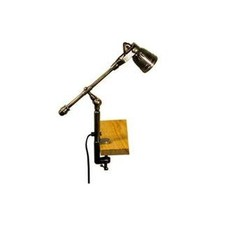 Seattle Desk Clamp Lamp in Antique Brass