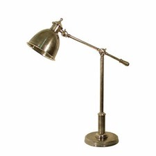 Vermont Adjustable Desk Lamp in Antique Silver