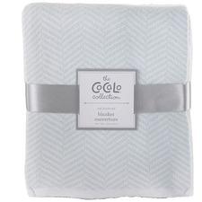 Herringbone Knitted Cot Blanket
