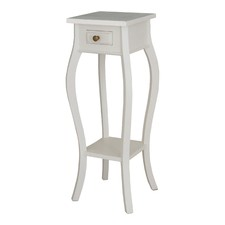 White 1 Drawer Plant Stand