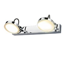 Chrome Stainton 2 Light LED Iron Wall Spotlight