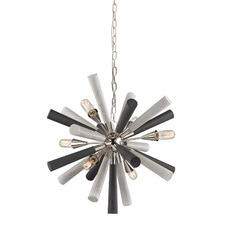 Thacka 5 Light Metal & Wood Pendant