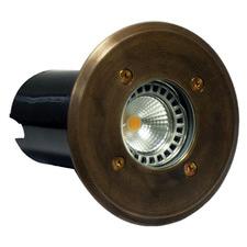 14.1cm Round Brass Inground Uplight