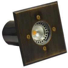 14.1cm Square Brass Inground Uplight