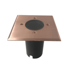 14.1cm Square Copper Inground Uplight