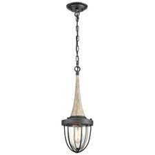 Pendolo Wood & Glass Pendant Light