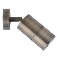 Antique Brass GU10 Adjustable Outdoor Wall Light