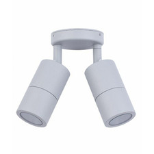 Double GU10 Aluminium Adjustable Outdoor Ceiling Light