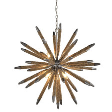 Mazza 8 Light Metal & Rope Pendant