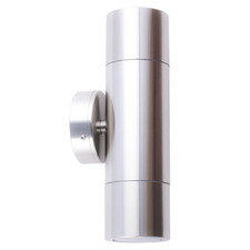 GU10 21cm Stainless Steel Outdoor Wall Light