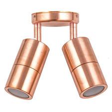 Copper MR16 Adjustable Double Outdoor Spotlight