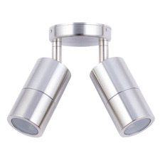 GU10 Adjustable Stainless Steel Double Outdoor Ceiling Light