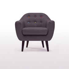 Mid Century Button Tufted Armchair