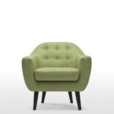 Mid Century Button Tufted Armchair