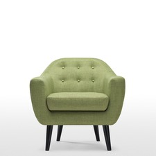 Retro Button Tufted Armchair