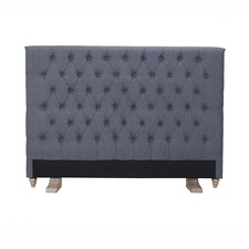 Archer Mid Grey Upholstered Bedhead