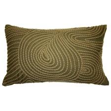 Swirl Olive Cushion