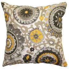 Suzani Yellow Cushion