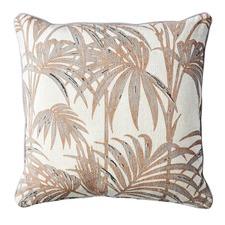 Havana Sepia & Dove Palms Cushion