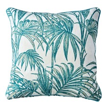 Havana Teal & Spring Green Palms Cushion