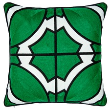 South Beach Embroidered Cotton Cushion