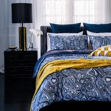 Malachite Cotton Sateen Quilt Cover Set