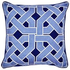 Navy Oxford Cotton Cushion