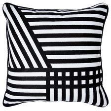 Monochrome Stripes Linen Cushion