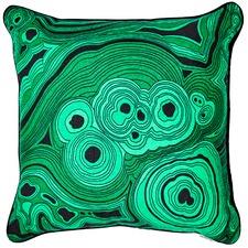 Green Malachite Linen Cushion