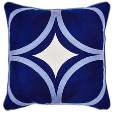 Navy Palm Springs Cotton Cushion
