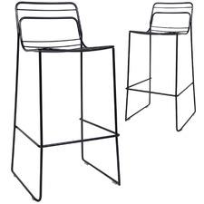 75cm Grid Steel Barstools (Set of 2)