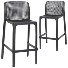 90cm Netto Stackable Outdoor Barstools (Set of 2)