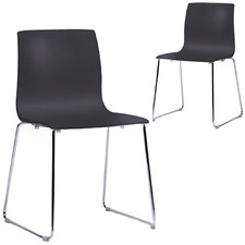 Alice Stackable Sled Dining Chairs (Set of 2)