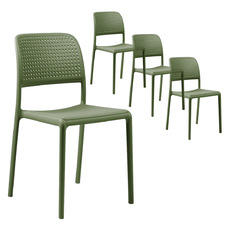 Bora Stackable Outdoor Dining Chairs (Set of 4)